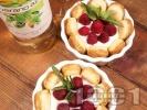 Рецепта Нестандартно плодово Тирамису с ванилов крем и пресни малини (без яйца)